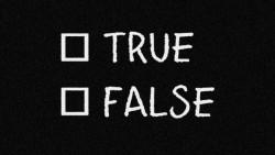 vero falso